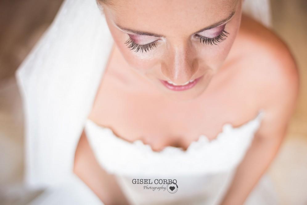 Maquillaje novia boda pestañas natural sombra ojos