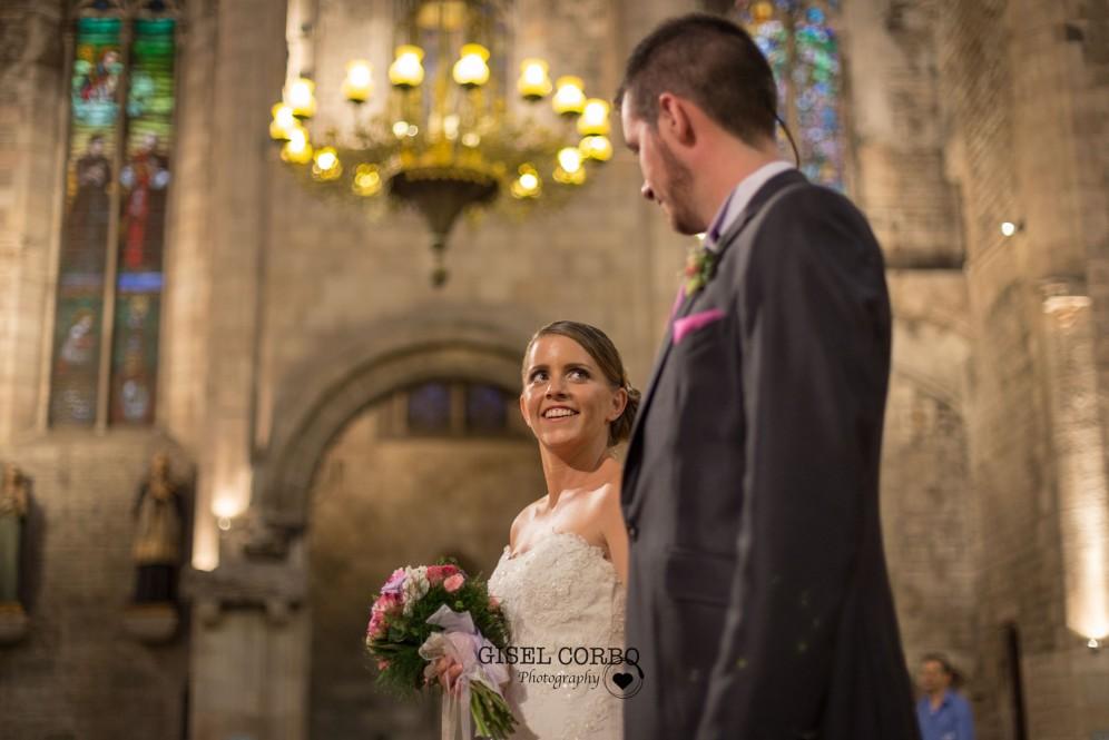 barcelona santa maria mar mirada novia altar