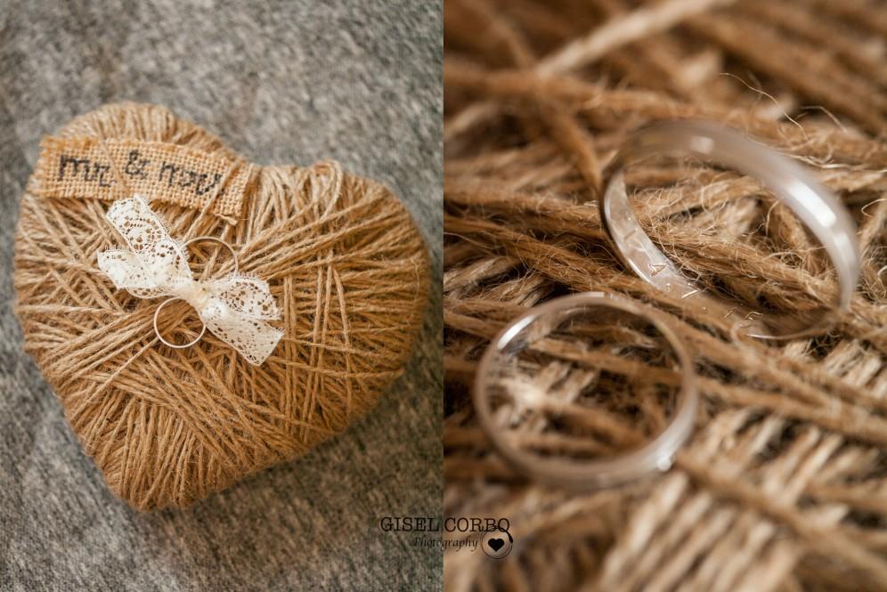 boda barcelona anillos portaalianzas corazon