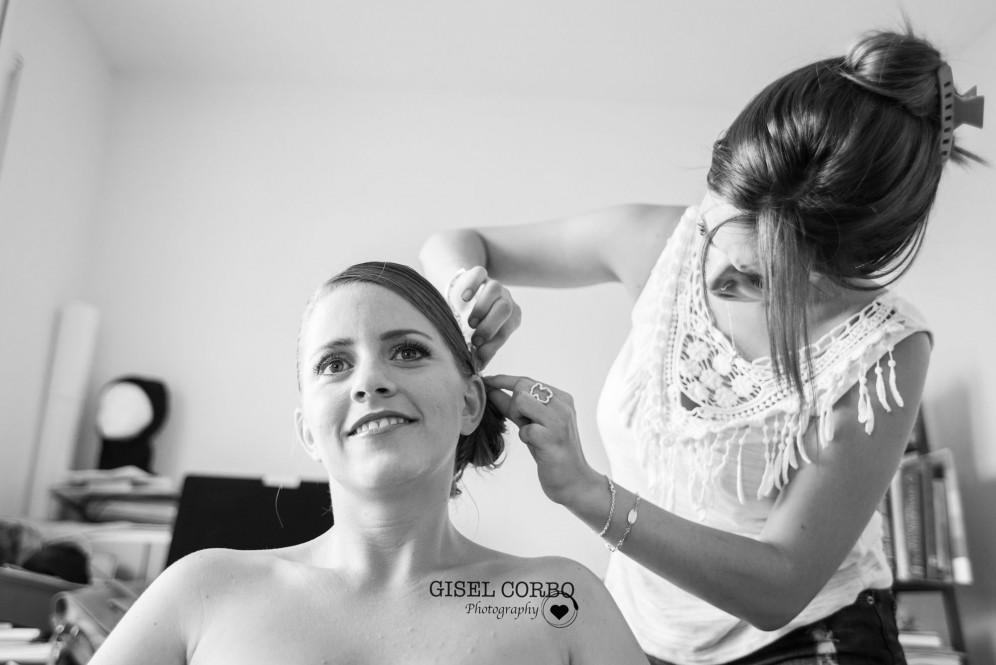 boda barcelona detalles peinado casa novia