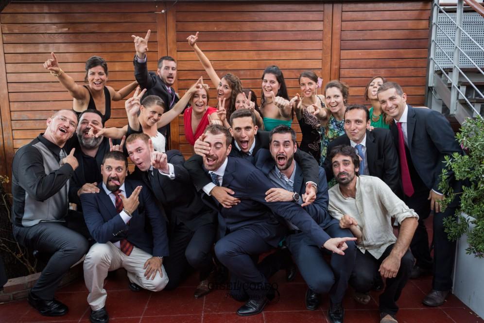 boda barcelona photocall divertido amigos