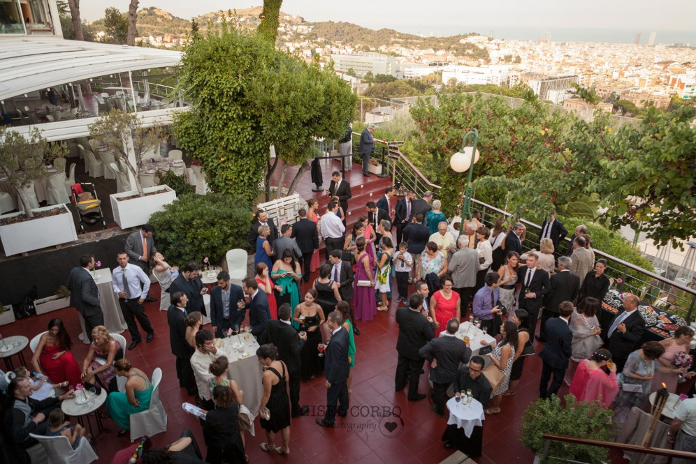 boda barcelona restaurant mirabe vistas