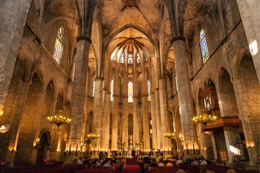 boda interior basilica santa maria del mar