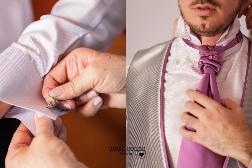 fotografo barcelona corbata gemelos novio preparativos