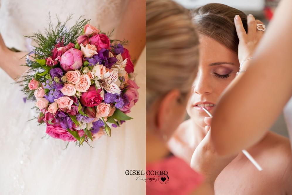 fotografo boda barcelona ramo maquillaje novia