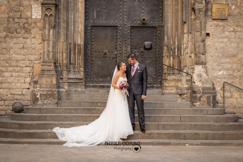 fotografo boda barcelona reportaje novios basilica born