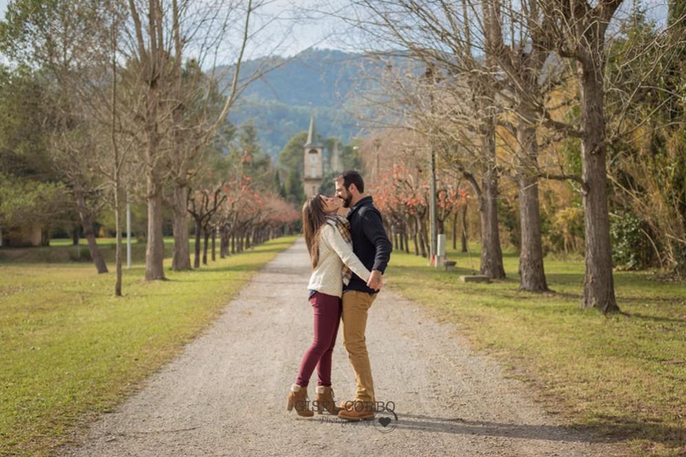 009 Preboda boda barcelona camino arboles