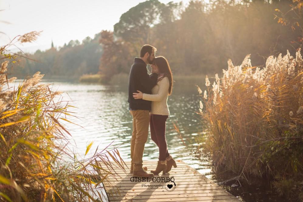018 Preboda romantico boda barcelona atardecer lago
