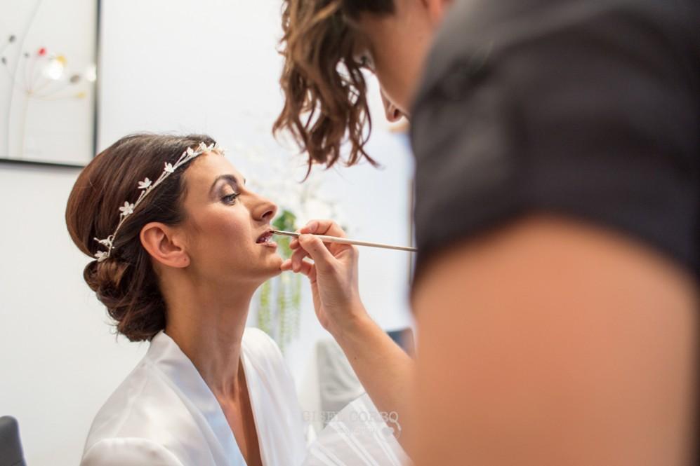 5 maquillaje labios novia peinado tiara flores