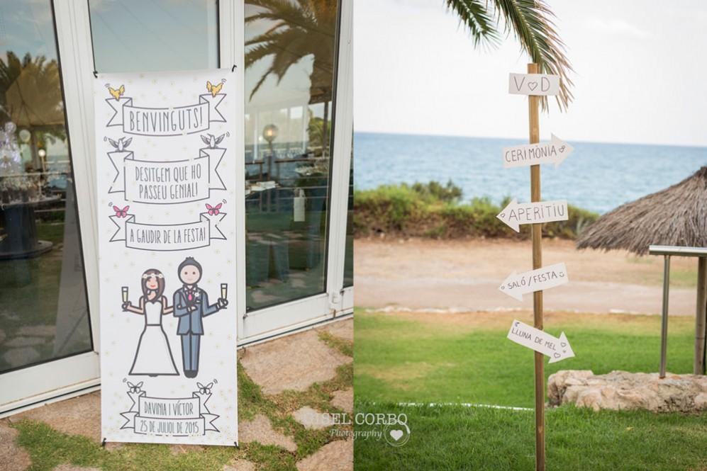 54 decoración boda junto al mar