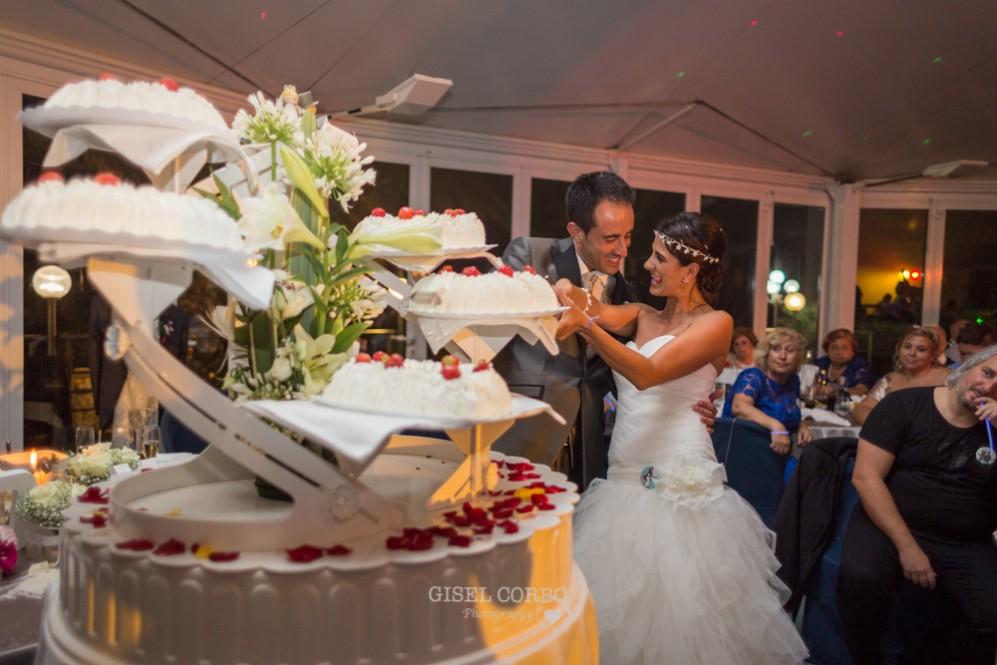 66 cortar el pastel nupcial en la boda